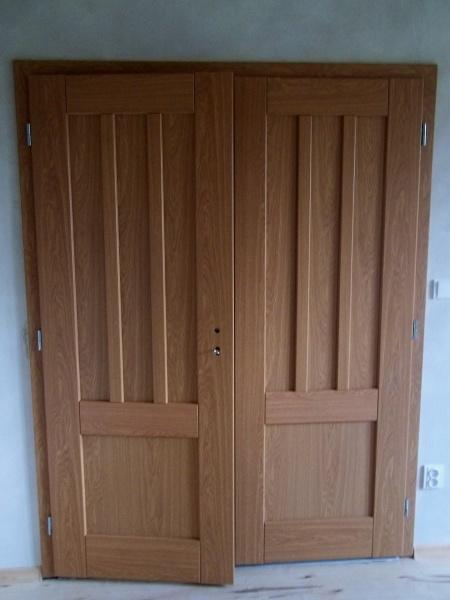 Montovali jsme dvoukřídlé dveře
