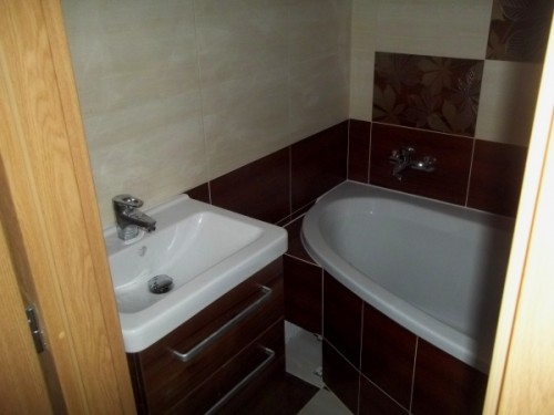 Pohled na novou koupelnu po rekonstrukci